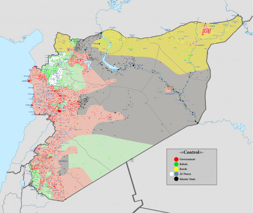 Map of Syria, 2012